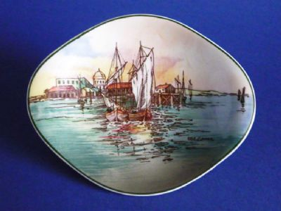 Royal Doulton 'Home Waters' Series Ware Trinket Dish D6434 c1950